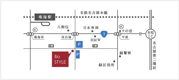 BoStyleのアクセスマップ