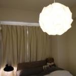 嫁入り家具日記。 寝室の灯り。カイザ-・イデルとレ・クリント。