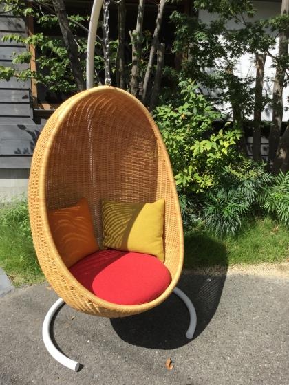 ナンナディッツェル ハンギングチェア ハンギングエッグチェア 籐家具 椅子 チェア ゆりかご 揺れる椅子 北欧 デザイナー ヤマカワラタン
